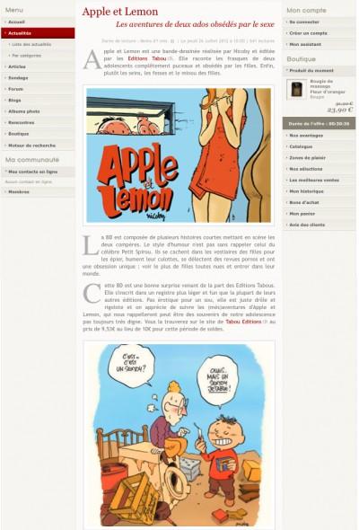 Article Roomantic - BD Apple et Lemon
