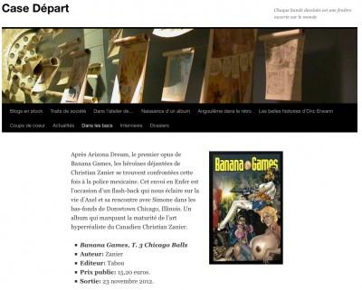 Article Case Départ - BD Banana Games 3