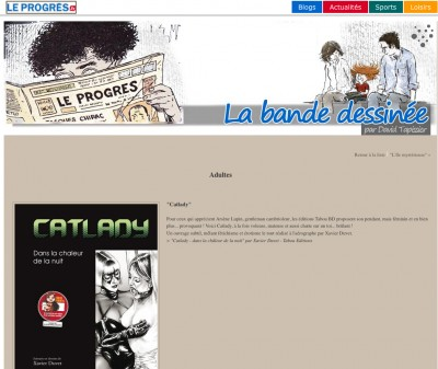 Article Leprogre.fr - BD Catlady