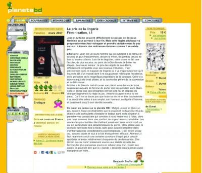 Article Planète BD - BD Féminisation Vol1
