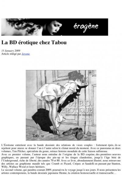 Article Erogène - BD Erotique