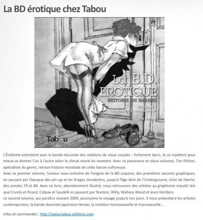 Article Nouvelle Chaire - BD Erotique