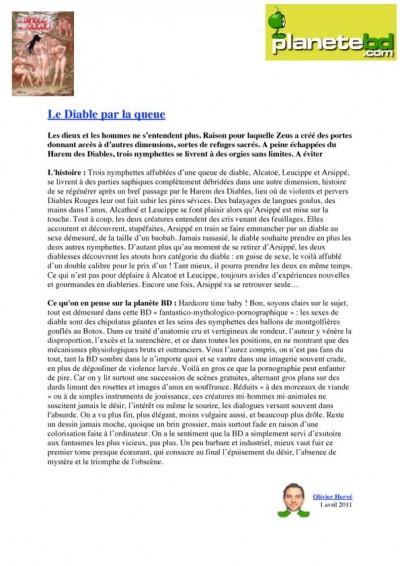 Article Planète BD - BD Le diable par la queue