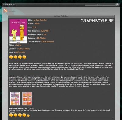 Article Graphivore - BD Le sale petit con