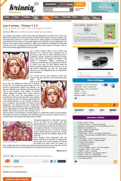 Article Krinein - BD Les 4 Amies Vol2