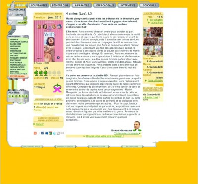Article Planète BD - BD Les 4 amies Vol3
