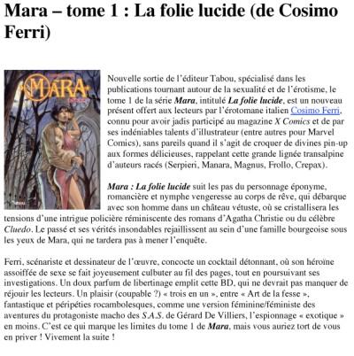 Article Nouvelle Chaire - BD Mara Vol1