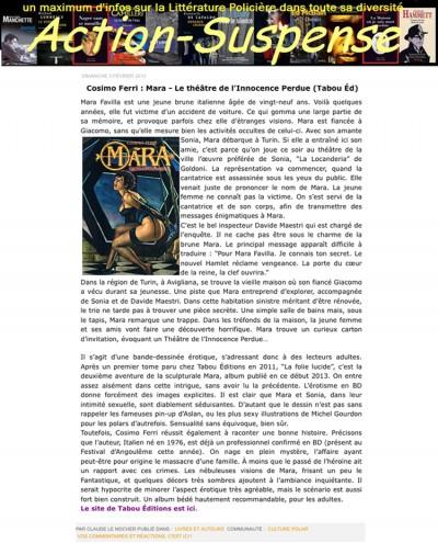 Article Action suspense - BD Mara Vol2