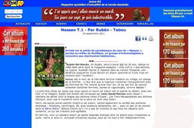 Article ActuaBD - BD Nassao Vol1