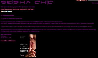 Article Geish Chic - Guide de survie de l'amoureuse illégitime