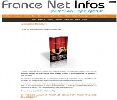 Article France Net Info - Guide Leçons de photographie érotique