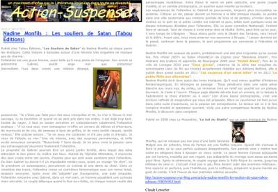Article Action suspense - Roman Les souliers de Satan