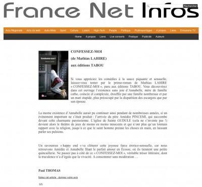 Article France net infos - Confessez-moi!
